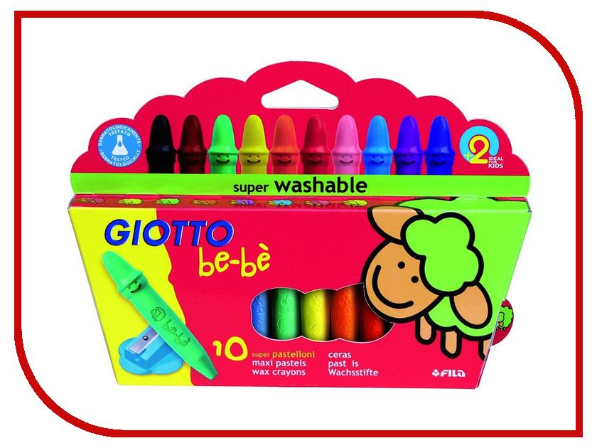 Восковые мелки Giotto Bebe 10 Wax Crayons 10шт 466800 карандаши восковые мелки пастель giotto stilnovo cancellab temp gom 10 цветных с индивидуальным ластиком