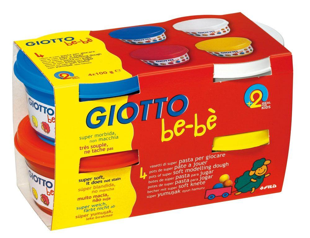 Набор для лепки Giotto Be-Be Super Modelling Dough Паста для моделирования 4 цвета 464901 набор д творчества giotto джиотто be be super modelling dough масса для моделирования 3шт 100гр бел син зел 462503