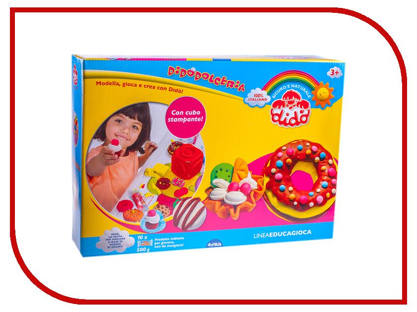 Набор для лепки Dido Кондитер Паста для лепки 10 цветов 398300 масса для лепки candy clay набор круассан