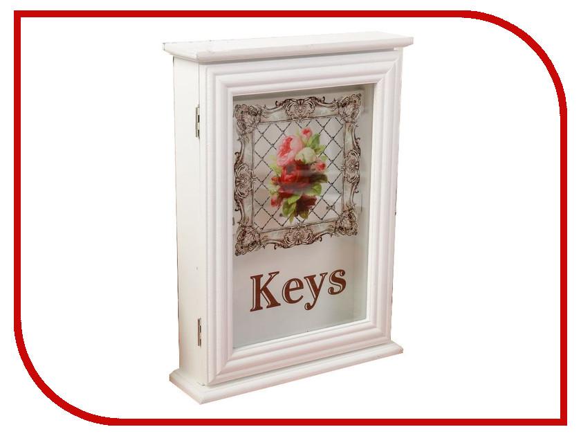 Настенная ключница Ключница СИМА-ЛЕНД Букет пионов White 6x22x29.5cm 2541158 р ключница galiba