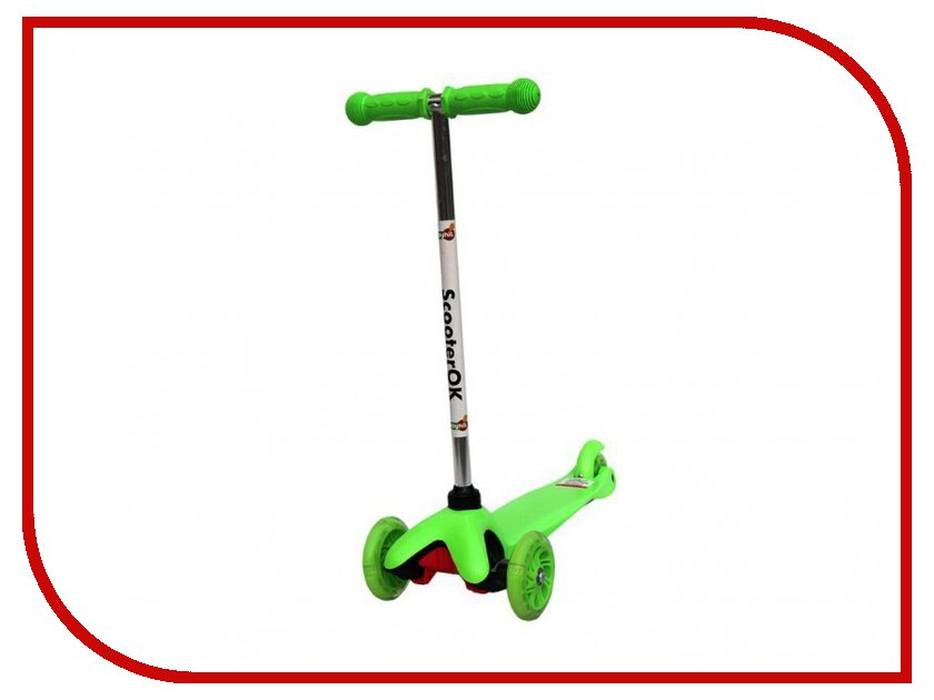Самокат BabyHit ScooterOK Green самокат babyhit scooterok plus зеленый