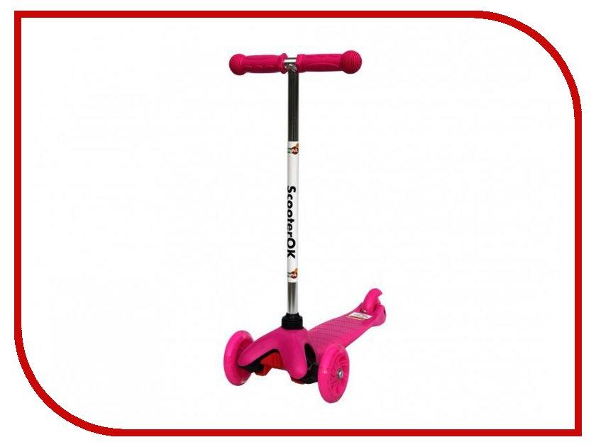 Самокат BabyHit ScooterOK Pink самокат babyhit scooterok plus зеленый