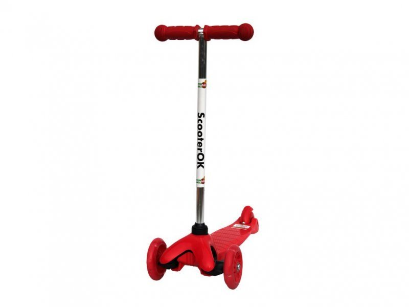 Самокат BabyHit ScooterOK Red трехколесные самокаты babyhit scooterok tolocar