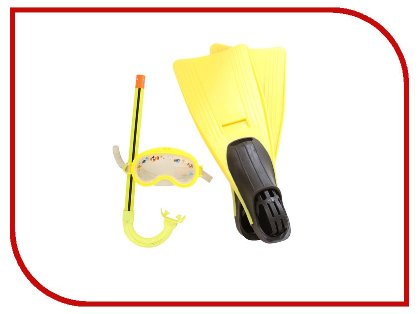 Набор маска + трубка + ласты Intex Junior Sport Set 55956 матрасы для плавания intex лодка 58394np