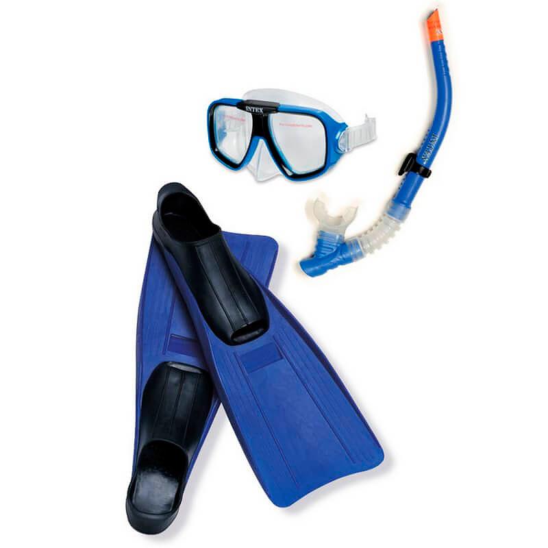 Набор маска + трубка + ласты Intex Reef Rider Sport Set 55957 круг для плавания детский intex ocean reef 61см 59242