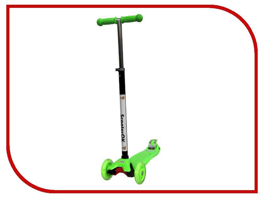 Самокат BabyHit ScooterOK Plus Green самокат babyhit scooterok plus зеленый