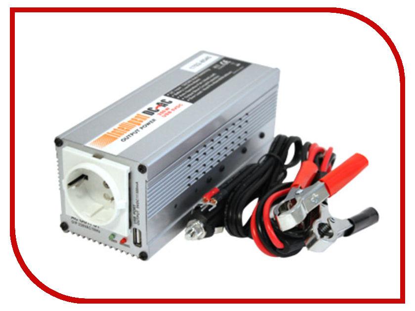 Автоинвертор Intelligent 12-24В 350Вт + USB 1702-8545