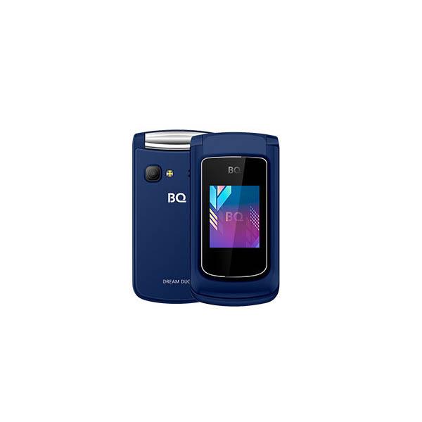 Сотовый телефон BQ 2433 Dream Duo Dark-Blue сотовый телефон bq 2433 dream duo red