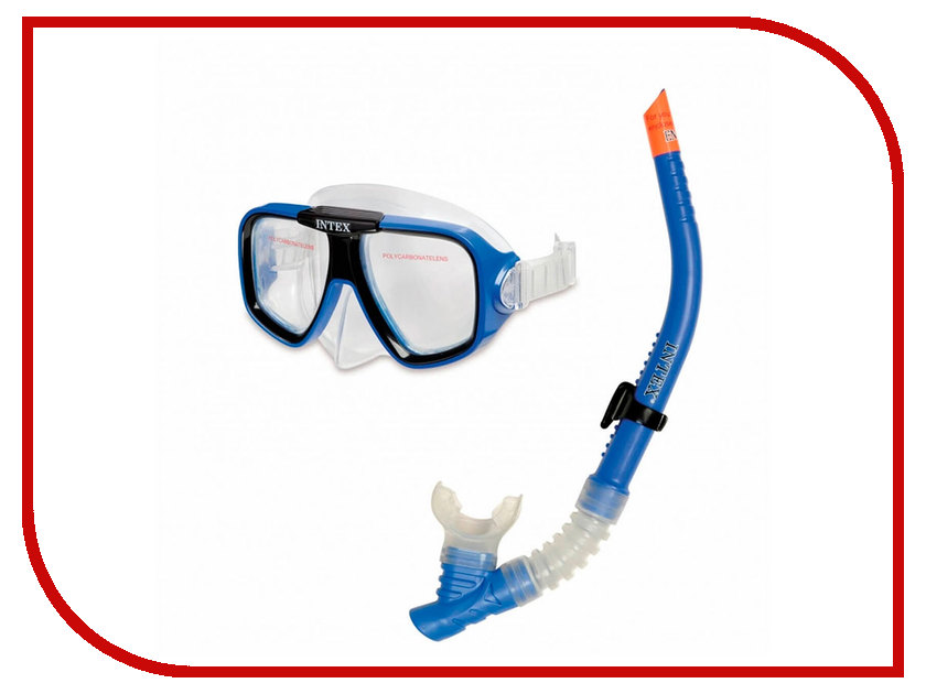 Набор маска + трубка Intex 55948 набор для дайвинга маска трубка scubapro phoenix ii