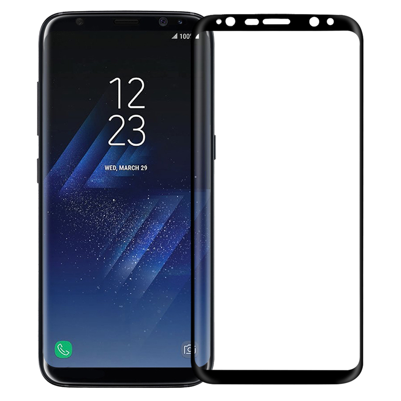 цена на Аксессуар Защитное стекло для Samsung Galaxy S8 Plus Solomon 3D Black