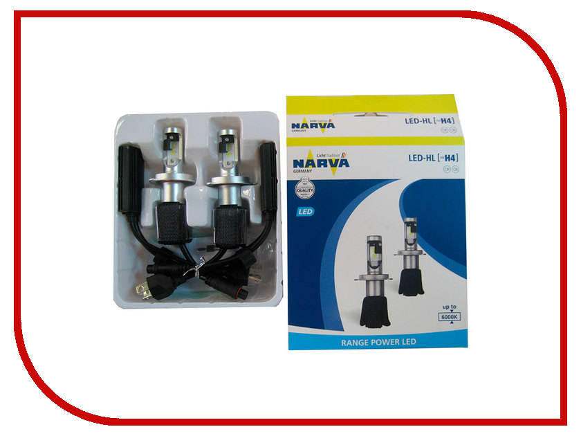 Лампа NARVA Range Power LED H4 16W 12V 18004 (2 штуки)