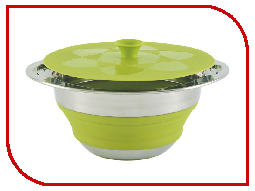 Outwell Collaps Pot w/lid 2.5l Green 650124 creative wave style pp lid rack mount holder green