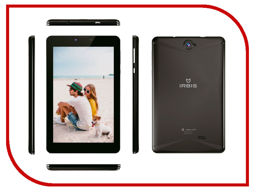 Планшет Irbis TZ742 Black (Spreadtrum SC7731G 1.3 GHz/1024Mb/8Gb/3G/Wi-Fi/Bluetooth/GPS/Cam/7.0/1280x800/Android)