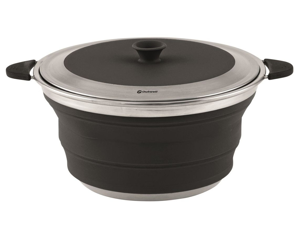 Outwell Collaps Pot with Lid 4.5L Midnight Black 650631