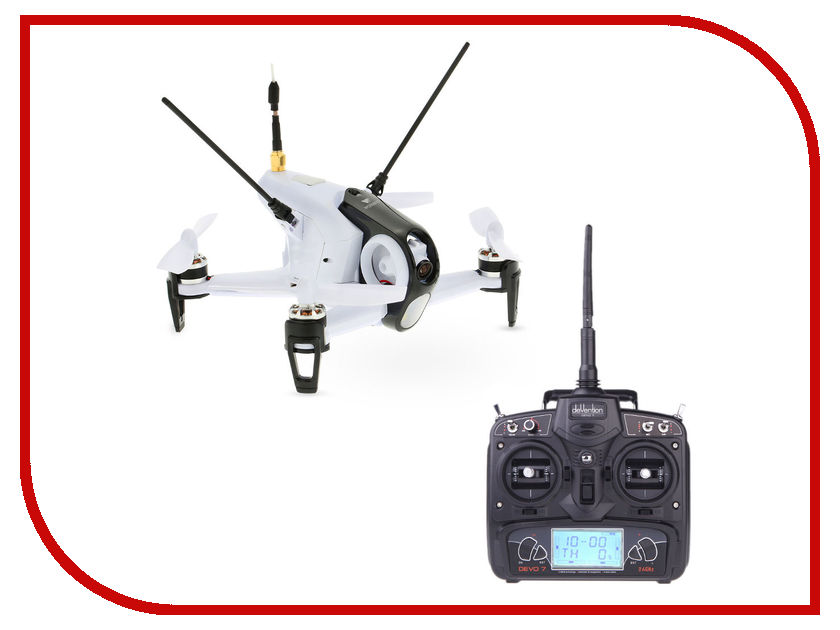 Квадрокоптер Walkera Rodeo 150 BNF + DEVO 7 White WAL-RODEO150-BNF-W original walkera runner 250 advance gps system rc drone quadcopter rtf with devo 7 remote control osd camera gps v4 f16182
