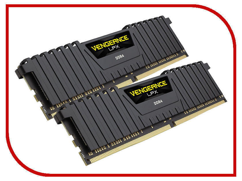 Модуль памяти Corsair Vengeance LPX DDR4 DIMM 4400MHz PC4-35200 C19 - 16Gb KIT (2x8Gb) CMK16GX4M2F4400C19 модуль памяти corsair vengeance lpx cmk32gx4m4b3733c17r ddr4 4x 8гб 3733 dimm ret