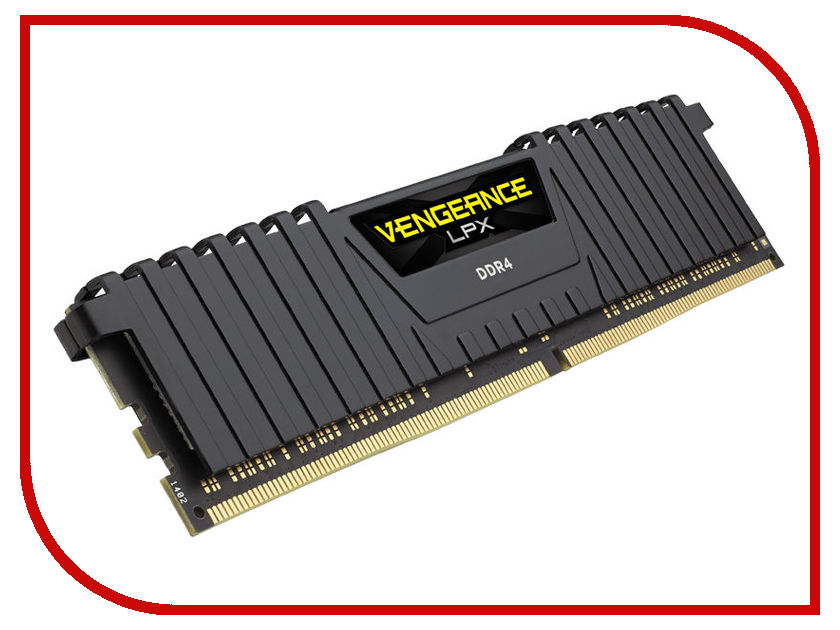 Модуль памяти Corsair Vengeance LPX DDR4 DIMM 3000MHz PC4-24000 CL16 - 8Gb CMK8GX4M1C3000C16 модуль памяти corsair vengeance lpx cmk32gx4m4b3733c17r ddr4 4x 8гб 3733 dimm ret