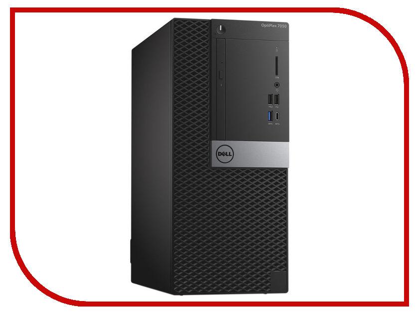 Настольный компьютер Dell OptiPlex 7050 MT Black-Silver 7050-4853 (Intel Core i7-6700 3.4 GHz/16384Mb/1000Gb+256Gb SSD/DVD-RW/AMD Radeon R7 M450 4096Mb/LAN/Linux) моноблок dell optiplex 7450 core i7 7700 3 6ghz23 8 8gb 1tb dvd r7 m465x w10 pro 64 black 7450 3518