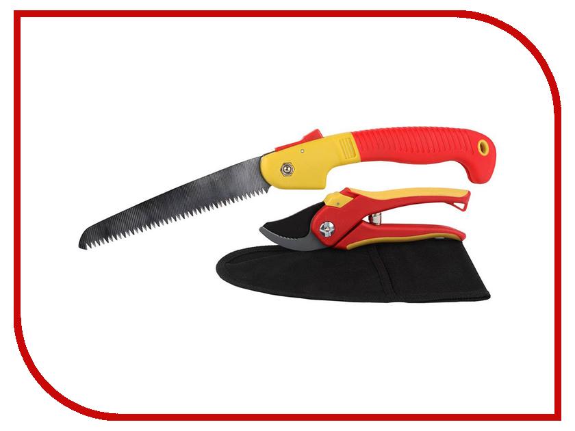 Секатор Grinda + ножовка садовая и нейлоновая сумка - набор 8-423251-H3