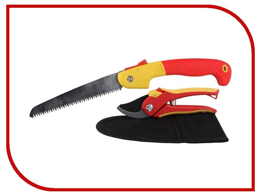 Секатор Grinda + ножовка садовая и нейлоновый чехол - набор 8-423251-H3_z01