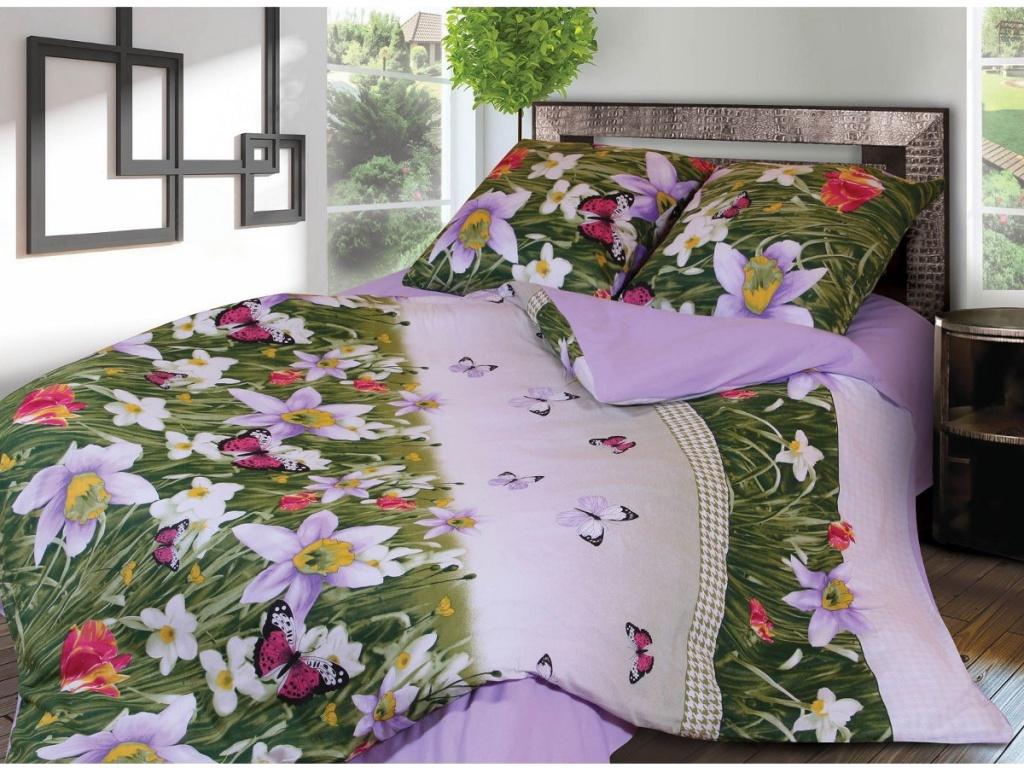 Постельное белье Грация 4677-2 Комплект 1.5 спальный Фланель 2302790