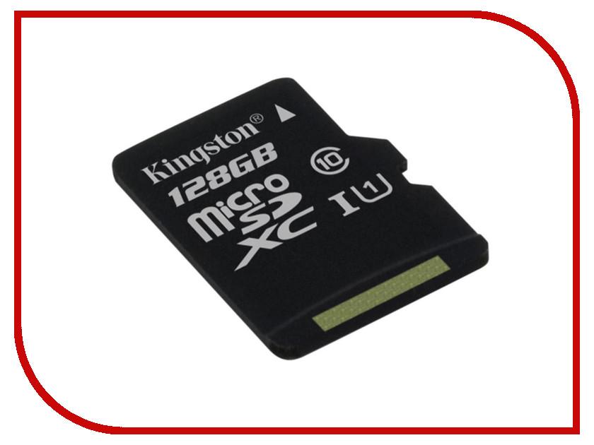 Карта памяти 128Gb - Kingston MicroSDXC Class 10 UHS-I U1 Canvas Select SDCS/128GBSP цены онлайн