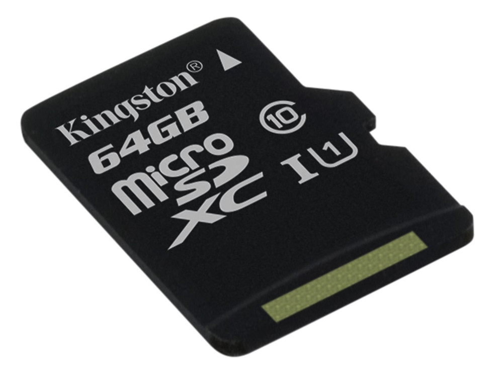 Карта памяти 64Gb - Kingston MicroSDHC Class 10 UHS-I U1 Canvas Select SDCS/64GBSP