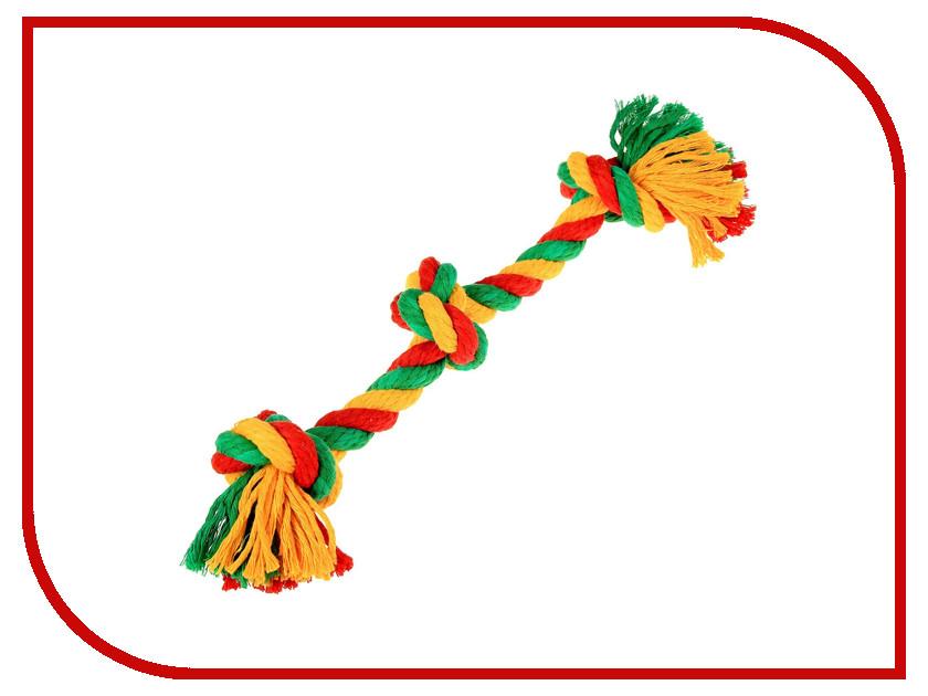 Канатный грейфер Doglike 3 узла большой Yellow-Green-Red