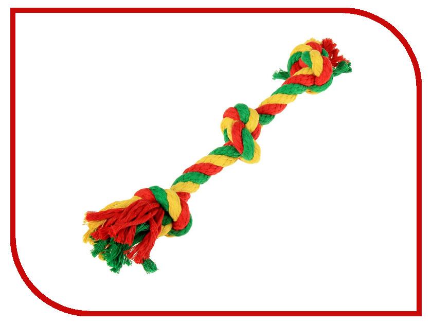 Канатный грейфер Doglike 3 узла малый Yellow-Green-Red