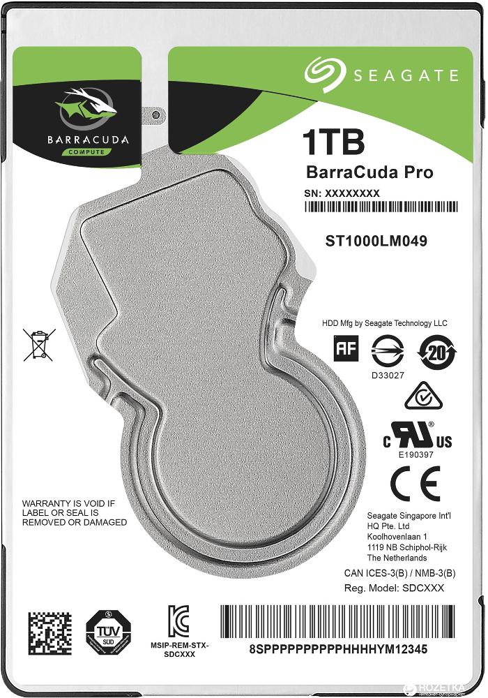 Жесткий диск Seagate ST1000LM049 1Tb