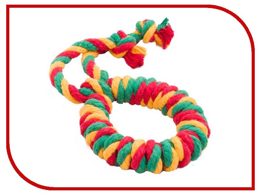 Кольцо канатное Doglike Большое Yellow-Green-Red