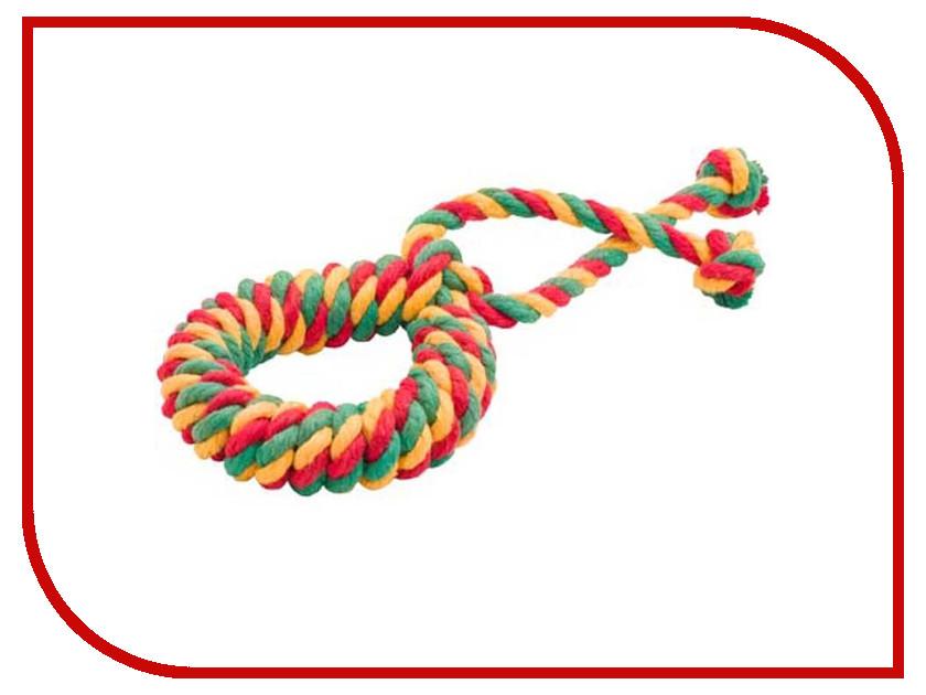 Кольцо канатное Doglike Среднее Yellow-Green-Red
