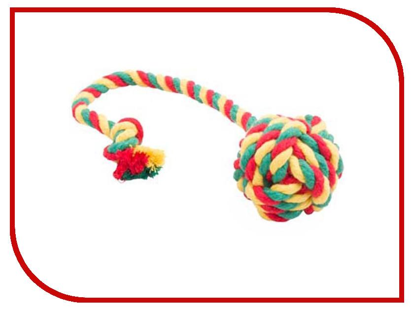 Мяч канатный Doglike Малый Yellow-Green-Red