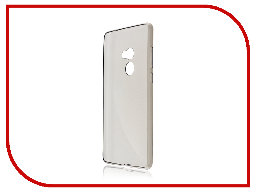 Аксессуар Чехол Xiaomi Mi Mix 2 BROSCO Silicone Black XM-MIMIX2-TPU-BLACK аксессуар чехол xiaomi redmi note 4 brosco transparent xm rn4 tpu transparent