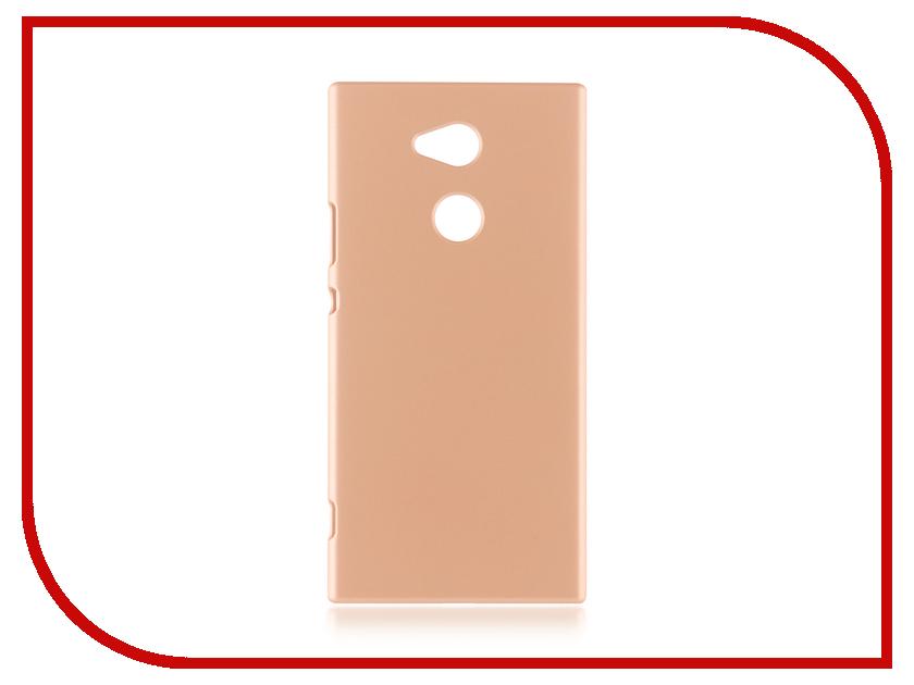 Аксессуар Чехол Brosco для Sony Xperia XA2 Ultra Gold XA2U-SOFTTOUCH-GOLD