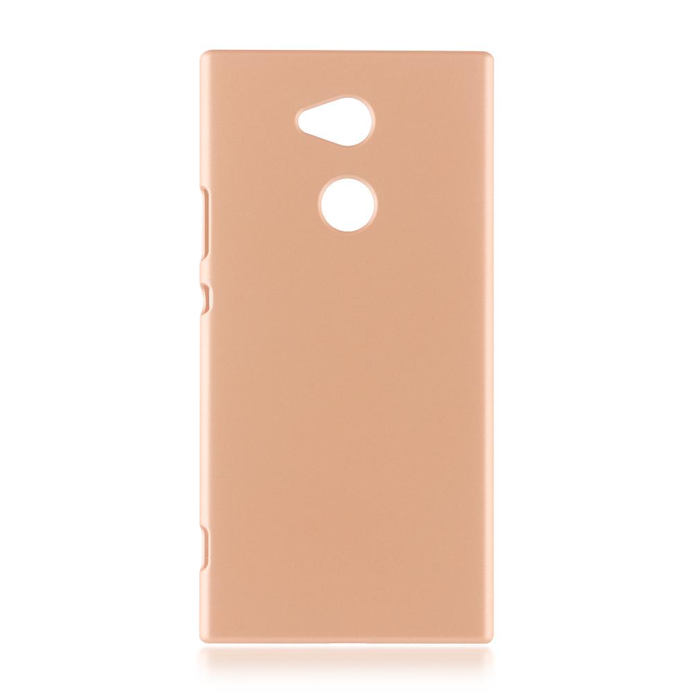 Чехол Brosco для Sony Xperia XA2 Ultra Gold XA2U-SOFTTOUCH-GOLD