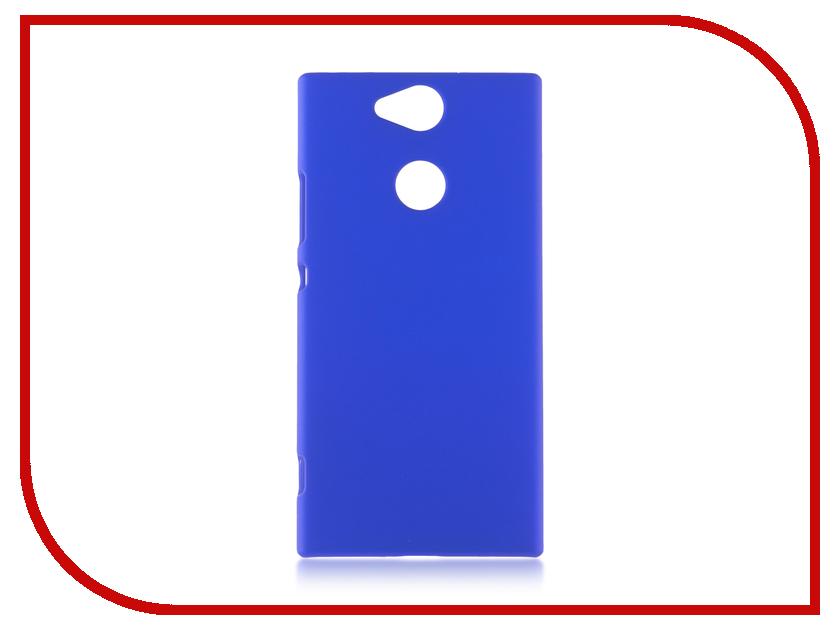Аксессуар Чехол Sony Xperia XA2 BROSCO Dark Blue XA2-SOFTTOUCH-DARKBLUE