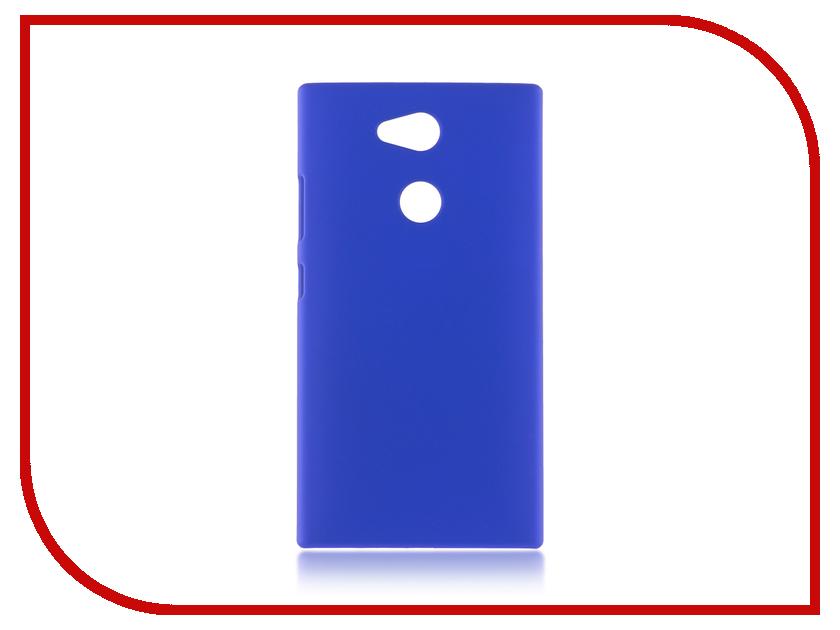 Аксессуар Чехол Sony Xperia L2 BROSCO Dark Blue L2-SOFTTOUCH-DARKBLUE