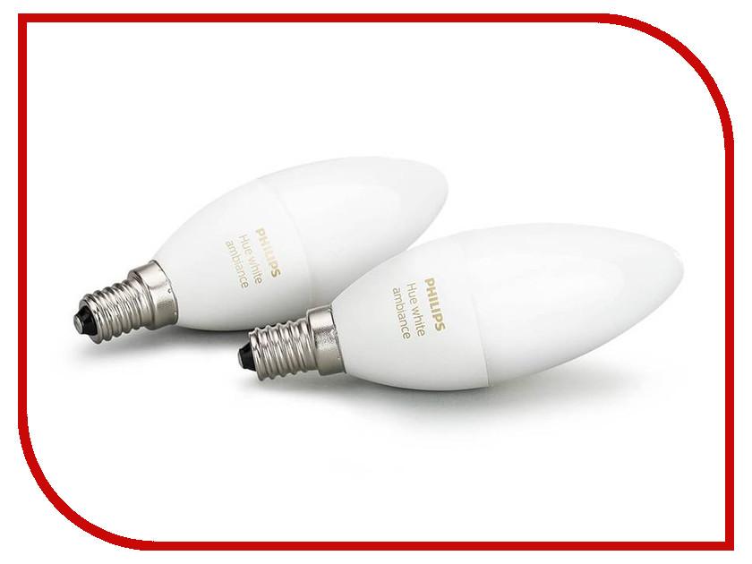 все цены на Лампочка Philips Hue White Ambiance E14 (2 штука) онлайн