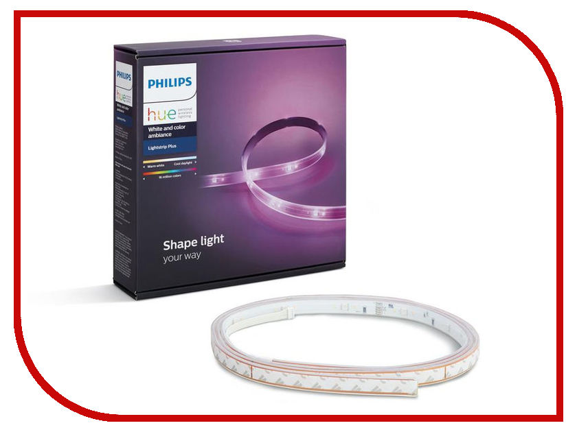 Светодиодная лента Philips Hue White and Color Ambiance LightStrips Plus 2m светодиодная лента philips hue lightstrips plus 1m