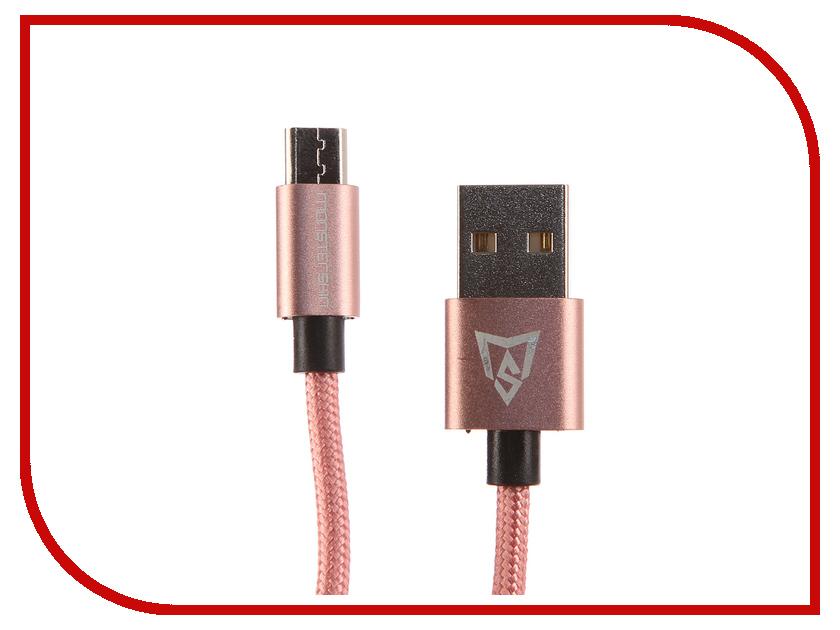 Аксессуар Monsterskin MS Flash USB - microUSB 1.0m Pink Gold аксессуар rexant usb microusb 1m pink 18 4256