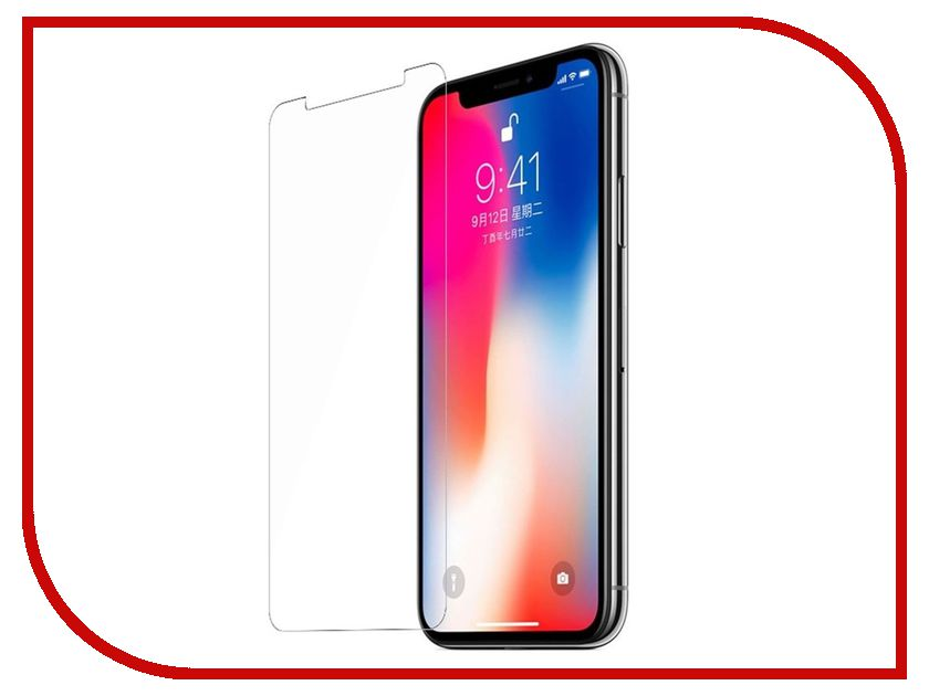 Аксессуар Защитное стекло BROSCO 0.2mm для APPLE iPhone X IPX-SUPERSLIM-GLASS аксессуар чехол brosco superslim для apple iphone 7 white ip7 pp superslim white