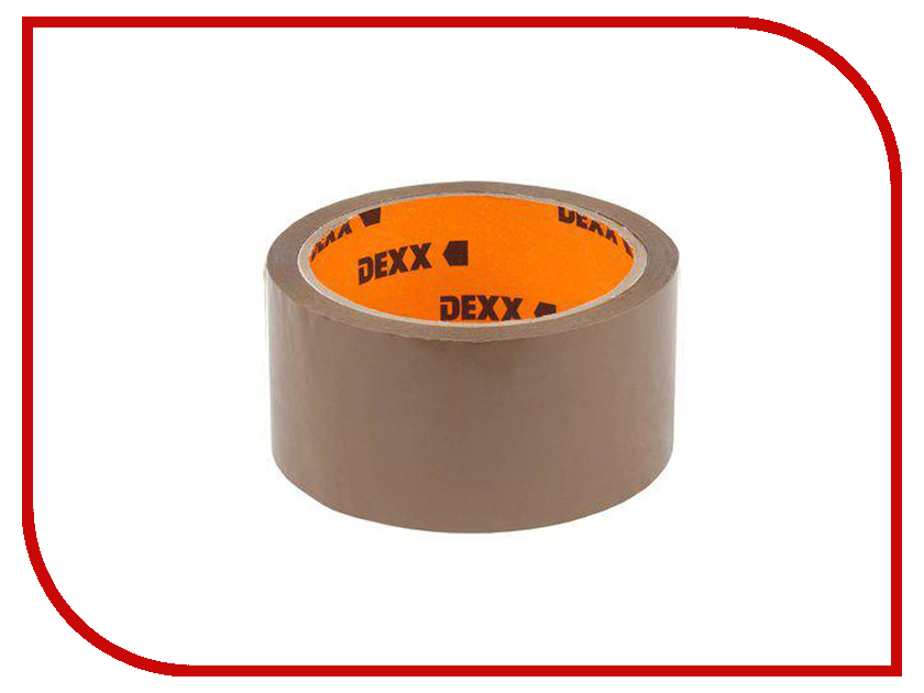 Клейкая лента для упаковки (Скотч) Dexx 12057-50-50_z01 48mm 50m Brown