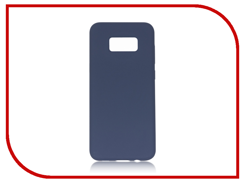 Аксессуар Чехол для Samsung Galaxy S8 Plus BROSCO Softrubber Blue SS-S8P-SOFTRUBBER-BLUE promate tava s5 чехол для samsung galaxy s5 blue
