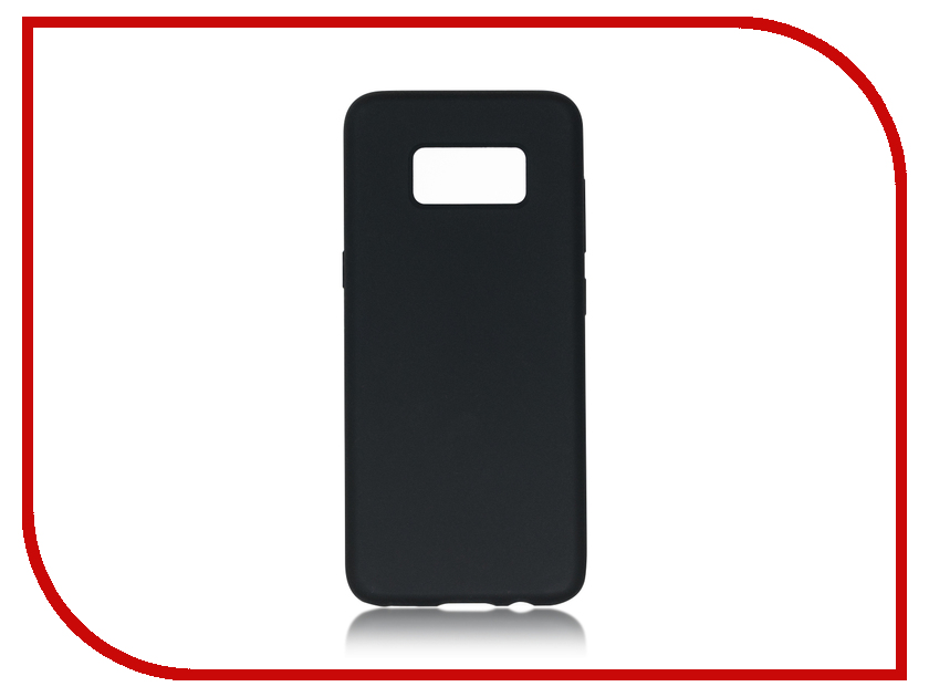 Аксессуар Чехол Samsung Galaxy S8 BROSCO Softrubber Black SS-S8-SOFTRUBBER-BLACK аксессуар чехол samsung galaxy s8 plus brosco black ss s8p 4side st black