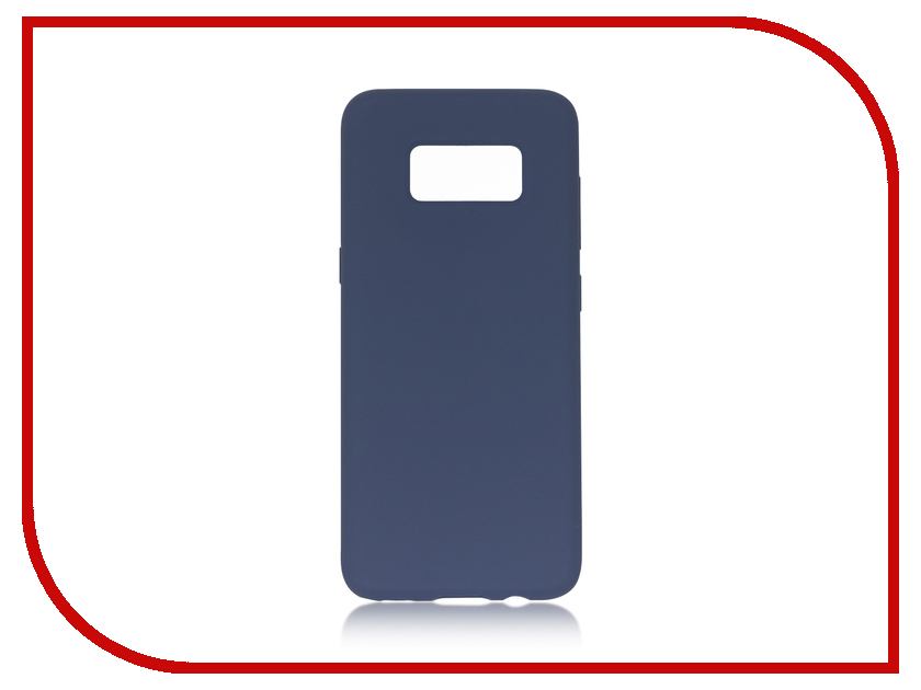 Аксессуар Чехол Samsung Galaxy S8 BROSCO Softrubber Blue SS-S8-SOFTRUBBER-BLUE аксессуар чехол samsung galaxy s8 plus brosco black ss s8p 4side st black