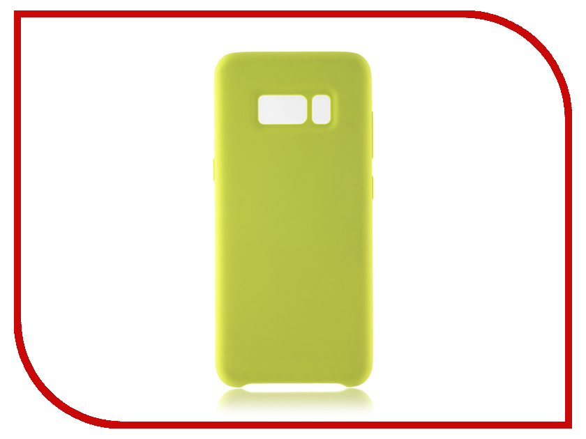 Аксессуар Чехол для Samsung Galaxy S8 BROSCO Softrubber Light Green SS-S8-SOFTRUBBER-GREEN аксессуар защитное стекло для samsung galaxy s8 brosco full screen black ss s8 3d glass black