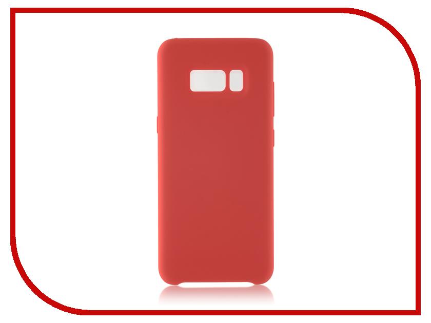 Аксессуар Чехол Samsung Galaxy S8 BROSCO Softrubber Red SS-S8-SOFTRUBBER-RED аксессуар чехол samsung galaxy s8 plus brosco black ss s8p 4side st black