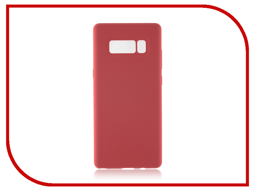 Аксессуар Чехол Samsung Galaxy Note 8 BROSCO Softrubber Pink SS-N8-SOFTRUBBER-PINK б у nokia n8