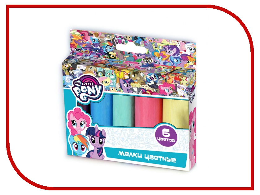 Multiart My Little Pony Мелки 6 цветов 40106-MLP 239229 аппарат для выжигания multiart 2059711